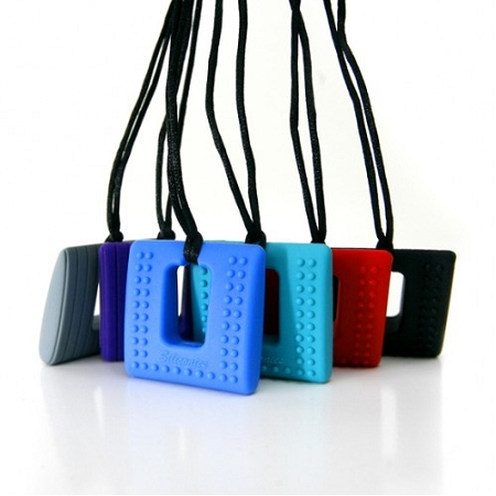 Siliconies Teething Square Pendant Necklaces