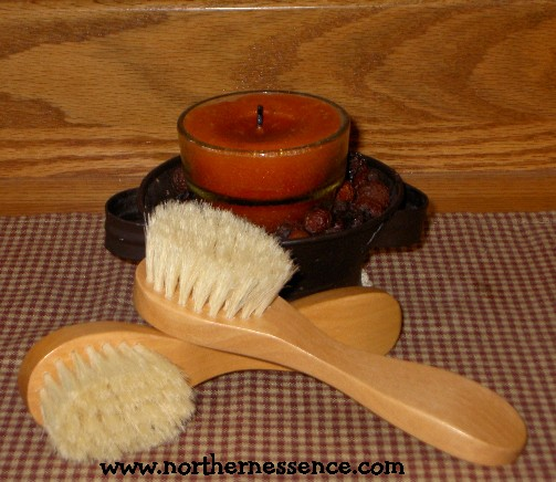 Wood Facial Brush
