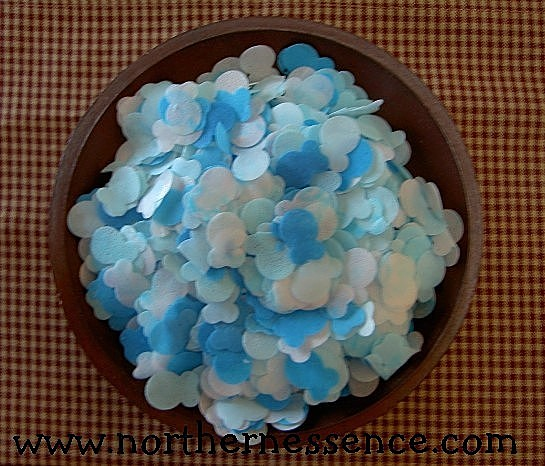 Blue & White Fish Bath Confetti