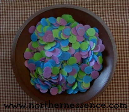 Coconut Circles Bath Confetti
