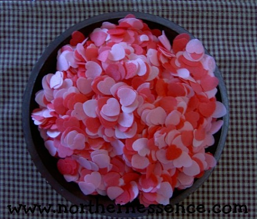 Strawberry Hearts Bath Confetti